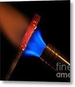 Heating Metal 1 Of 3 Metal Print