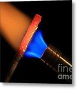 Heating Metal 2 Of 3 Metal Print