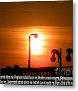 Heavenly Sun Lamp Metal Print by Laurence Oliver