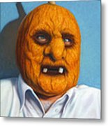 Heavy Vegetable-head Metal Print by James W Johnson