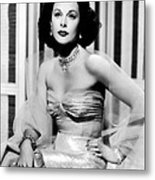 Hedy Lamarr In Promotional Photo For My Metal Print by Everett