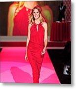 Heidi Klum Wearing A John Galliano Gown Metal Print
