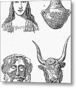 Heinrich Schliemann Metal Print