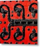Heinz Chapel Door Detail Metal Print