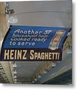 Heinz Spaghetti Train Ad Signage Digital Art Metal Print