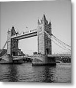 Helicopter At Tower Bridge Metal Print