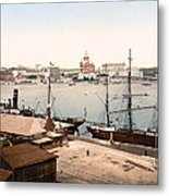 Helsinki Finland - Russian Cathedral And Harbor Metal Print