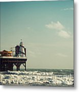 Helter-skelter On Brighton Pier  Metal Print by Paul Grand