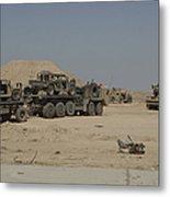 Hemtt Trucks Carry Combat Modified Metal Print