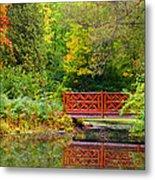 Henes Park Pond Bridge Metal Print