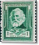 Henry W Longfellow Postage Stamp Metal Print