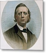 Henry Ward Beecher (1813-1887). American Clergyman. At Age 50: Steel Engraving, 19th Century Metal Print