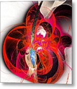 Her Heart Is A Guitar Metal Print