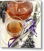 Herbal Tea And Lavender Metal Print
