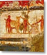 Herculaneum Wall Painting Metal Print