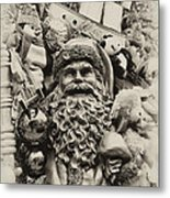 Here Comes Santa Claus Metal Print by Bill Cannon