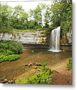 Herisson Waterfalls Metal Print