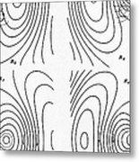 Hertzs Flux Lines Metal Print by Science Source