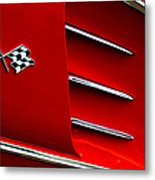 Hey Little Red Corvette Metal Print