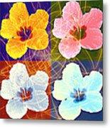 Hibiscus Blooming Metal Print