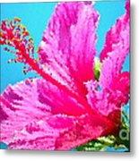 Hibiscus Crystal Luster Metal Print