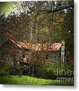 Hidden House In Spring Metal Print