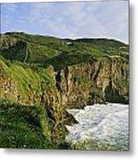 High Angle View Of A Coast, County Metal Print
