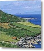 High Angle View Of A Coastline, Beara Metal Print