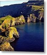 High Angle View Of Rock Formations In Metal Print