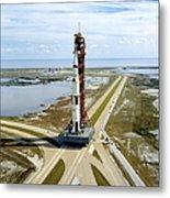 High Angle View  Of The Apollo 14space Metal Print