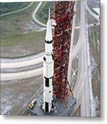 High Angle View  Of The Apollo 15 Space Metal Print