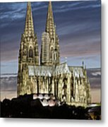 High Cathedral Of Sts. Peter And Mary In Cologne Metal Print