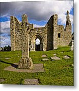 High Cross At Clonmacnoise, County Metal Print