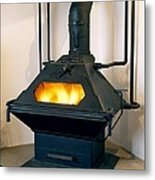 High Efficiency Multi-fuel Stove Metal Print by Mark Sykes