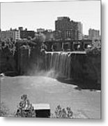High Falls In Rochester New York Metal Print by Matthew Green