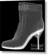 High Heel Boot X-ray Metal Print