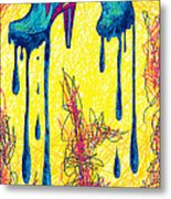 High Heels Abstraction Dripping Metal Print