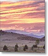 High Park Fire Larimer County Colorado At Sunset Metal Print