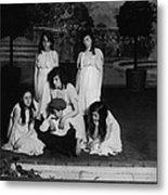 High School Play, Original Caption Miss Metal Print