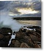 High Tide At Otter Point Metal Print