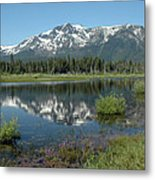 High Water Mt Tallac Reflections Metal Print