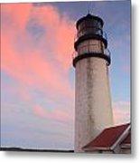 Highland Lighthouse Sunset Cape Cod Metal Print