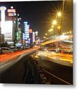 Highway And Hotels Metal Print