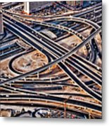 Highway Intersection Of Metal Print
