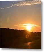 Highway Sunrise Metal Print