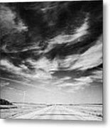 Highway Through Land Of The Living Skies Saskatchewan Canada Metal Print