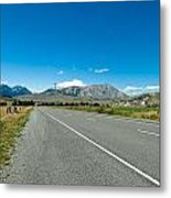 Highway Towards Panoramic Mountain Metal Print