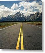 Highways To Tops Of World Metal Print