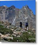 Hiking In Jasper Metal Print
