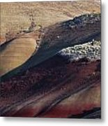Hiking In The Painted Hills Metal Print
